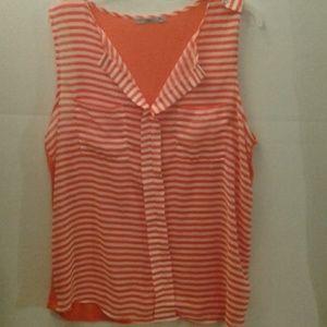 Femme sleeveless  shirt 2X Orange